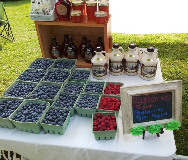 Coldwater Mill Saturday Market berries, Coldwater, Ontario