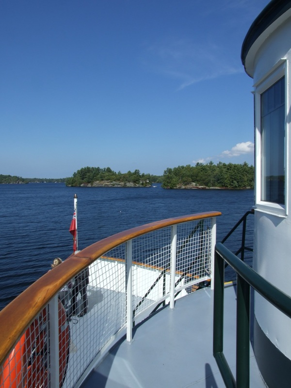 The bow of the Wenonah II of Muskoka Steamships in Gravenhurst