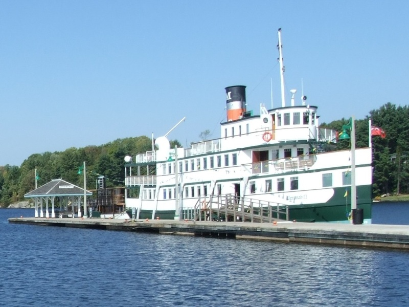 The Wenonah II of Muskoka Steamships in Gravenhurst