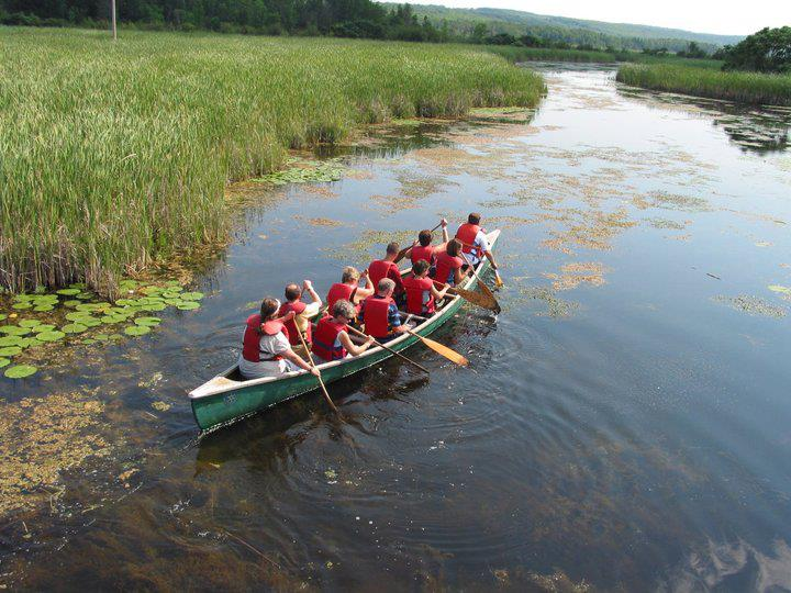 Guided canoe tours at the Wye Marsh Wildlife Centre, Midland, Ontario