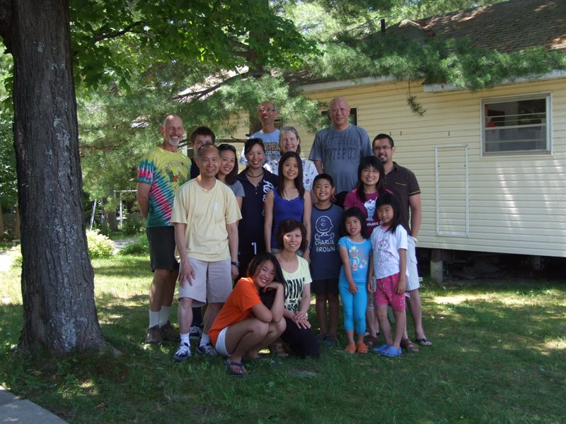 Family picnic by cottages #4 & #5